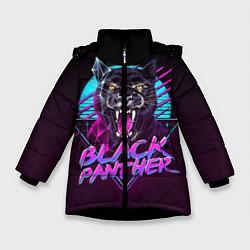 Куртка зимняя для девочки Black Panther 80s цвета 3D-черный — фото 1