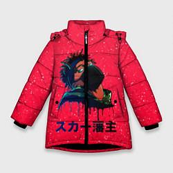 Куртка зимняя для девочки SCARLXRD Rap цвета 3D-черный — фото 1