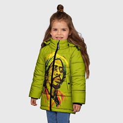 Куртка зимняя для девочки Rasta Art цвета 3D-черный — фото 2