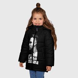Куртка зимняя для девочки Семья сказала цвета 3D-черный — фото 2