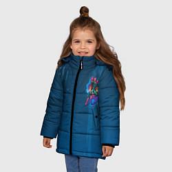 Куртка зимняя для девочки Вижен цвета 3D-черный — фото 2