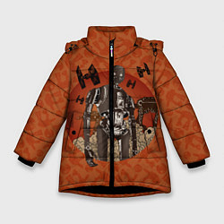 Куртка зимняя для девочки K-2SO цвета 3D-черный — фото 1