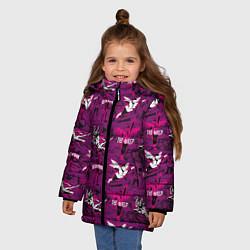 Куртка зимняя для девочки The Wasp & Black Widow цвета 3D-черный — фото 2