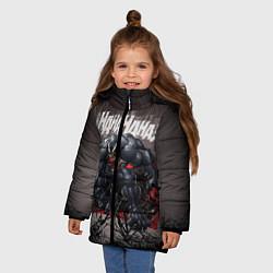 Куртка зимняя для девочки Laughing Venom цвета 3D-черный — фото 2