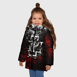 Куртка зимняя для девочки RAMMSTEIN цвета 3D-черный — фото 2