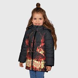 Куртка зимняя для девочки KIZARU - Karmageddon цвета 3D-черный — фото 2