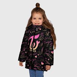 Куртка зимняя для девочки TWICE АВТОГРАФЫ цвета 3D-черный — фото 2