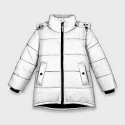 Куртка зимняя для девочки Без дизайна цвета 3D-черный — фото 1