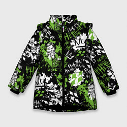 Куртка зимняя для девочки Villains цвета 3D-черный — фото 1