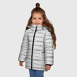 Куртка зимняя для девочки Друзья цвета 3D-черный — фото 2
