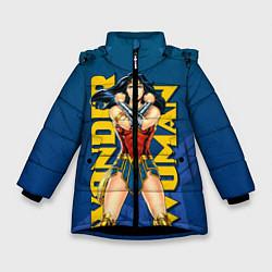 Куртка зимняя для девочки Wonder Woman цвета 3D-черный — фото 1