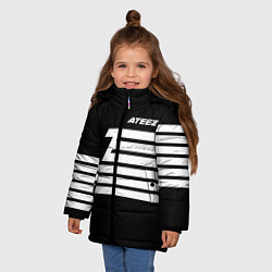 Куртка зимняя для девочки Ateez цвета 3D-черный — фото 2
