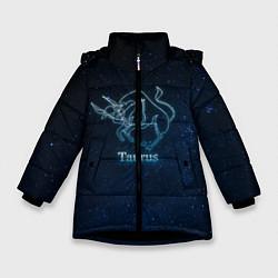 Куртка зимняя для девочки Телец 3D цвета 3D-черный — фото 1