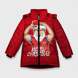 Куртка зимняя для девочки Новогодний Дзюба Russia цвета 3D-черный — фото 1