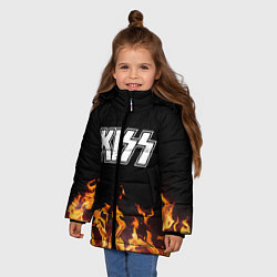 Куртка зимняя для девочки Kiss: Hell Flame цвета 3D-черный — фото 2