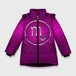 Куртка зимняя для девочки Scorpio Скорпион цвета 3D-черный — фото 1