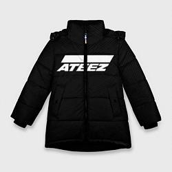 Куртка зимняя для девочки ATEEZ цвета 3D-черный — фото 1