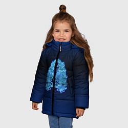 Куртка зимняя для девочки Знаки Зодиака Дева цвета 3D-черный — фото 2