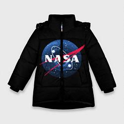 Куртка зимняя для девочки NASA Black Hole цвета 3D-черный — фото 1