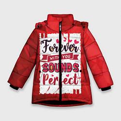 Куртка зимняя для девочки Звучит идеально цвета 3D-черный — фото 1