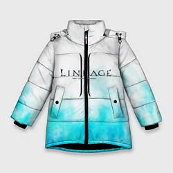 Детская зимняя куртка для девочки с принтом LINEAGE 2, цвет: 3D-черный, артикул: 10202647706065 — фото 1