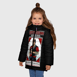 Куртка зимняя для девочки Серега Есенин цвета 3D-черный — фото 2