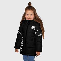 Куртка зимняя для девочки Venum цвета 3D-черный — фото 2