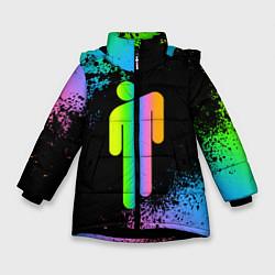Куртка зимняя для девочки BILLIE EILISH цвета 3D-черный — фото 1
