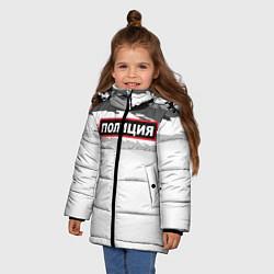 Куртка зимняя для девочки Полиция цвета 3D-черный — фото 2
