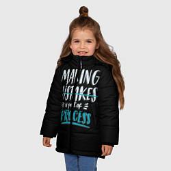 Куртка зимняя для девочки Ошибки - часть прогресса - фото 2
