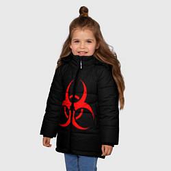 Куртка зимняя для девочки Plague inc цвета 3D-черный — фото 2