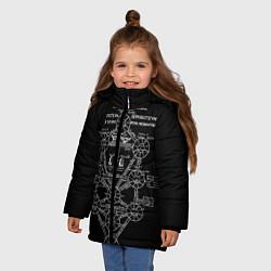 Детская зимняя куртка для девочки с принтом EVa-updown, цвет: 3D-черный, артикул: 10206831706065 — фото 2