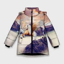Куртка зимняя для девочки Sea Sunset Horse цвета 3D-черный — фото 1