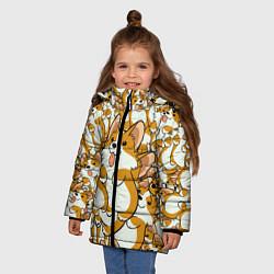 Куртка зимняя для девочки Корги цвета 3D-черный — фото 2