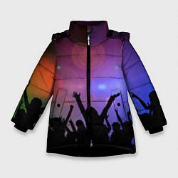 Детская зимняя куртка для девочки с принтом Пати, цвет: 3D-черный, артикул: 10207798106065 — фото 1