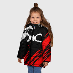Куртка зимняя для девочки DEVIL MAY CRY DMC цвета 3D-черный — фото 2