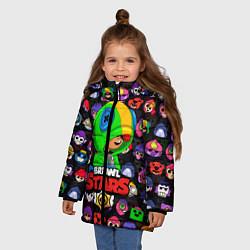 Куртка зимняя для девочки BRAWL STARS LEON цвета 3D-черный — фото 2