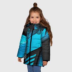 Куртка зимняя для девочки Mercedes-Benz цвета 3D-черный — фото 2
