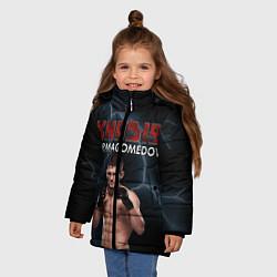 Куртка зимняя для девочки ХАБИБ цвета 3D-черный — фото 2