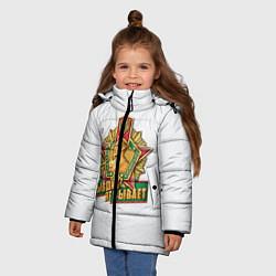 Куртка зимняя для девочки Бывших не бывает погранвойска цвета 3D-черный — фото 2