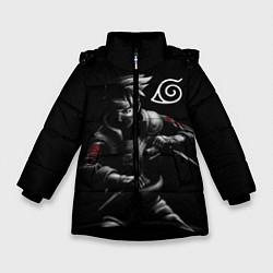 Куртка зимняя для девочки НАРУТО цвета 3D-черный — фото 1