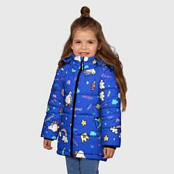Куртка зимняя для девочки Magical unicorn цвета 3D-черный — фото 2