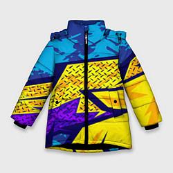 Куртка зимняя для девочки Bona Fide Одежда для фитнеса цвета 3D-черный — фото 1
