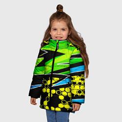Куртка зимняя для девочки Bona Fide цвета 3D-черный — фото 2