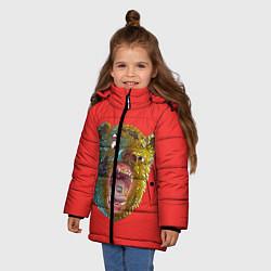 Куртка зимняя для девочки Little Big: Bear цвета 3D-черный — фото 2
