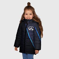 Куртка зимняя для девочки Infinity цвета 3D-черный — фото 2