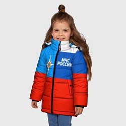 Куртка зимняя для девочки Флаг МЧС России цвета 3D-черный — фото 2