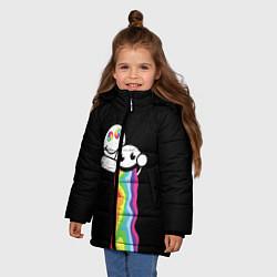 Куртка зимняя для девочки Биба и Боба Oko цвета 3D-черный — фото 2