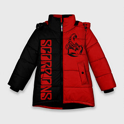 Детская зимняя куртка для девочки с принтом SCORPIONS, цвет: 3D-черный, артикул: 10212831306065 — фото 1