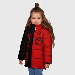 Куртка зимняя для девочки SCORPIONS цвета 3D-черный — фото 2